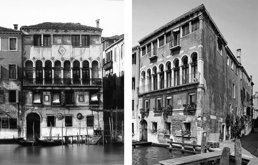 Palazzo Donà dela Madonata in 1900 (photo Naya) and prior to last renovation (photo veniceteam 2010)
